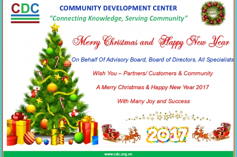 Chúc mừng Giáng sinh & Chào đón năm mới 2017