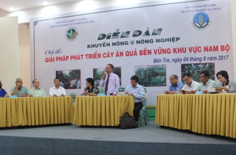 Diễn đàn Khuyến nông @ nông nghiệp: Giải pháp phát triển cây ăn quả bền vững khu vực Nam Bộ