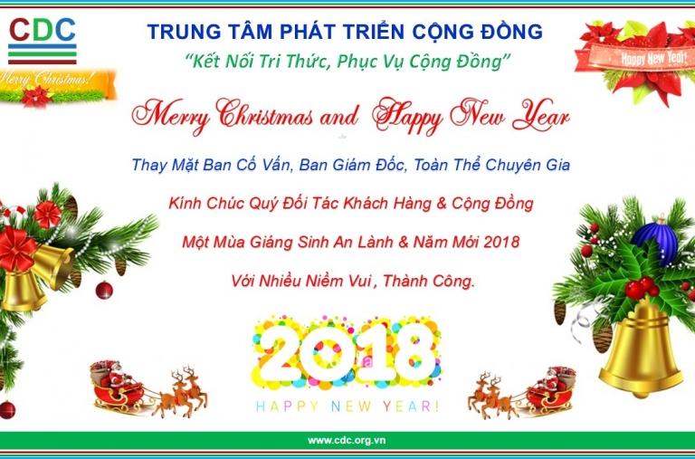 Mừng Giáng Sinh và Chúc Mừng Năm Mới 2018