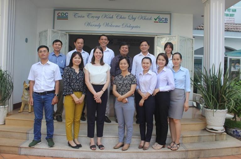 Tổng Lãnh sự quán Hoa Kỳ tại Tp. Hồ Chí Minh thăm văn phòng và làm việc với CDC