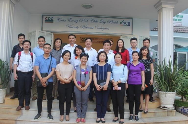 CDC tổ chức tham quan mô hình sản xuất nông nghiệp bền vững cho Đoàn cán bộ thuộc Sở NN&PTNT tỉnh Sơn La, Điện Biên