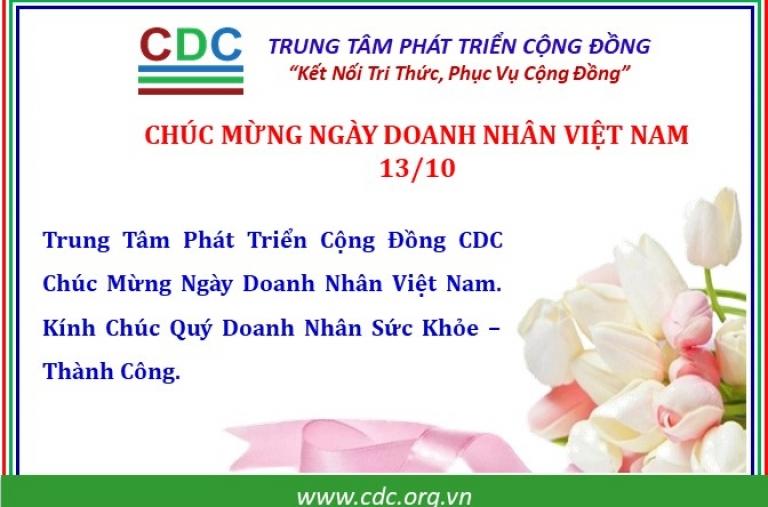 Chúc mừng ngày Doanh Nhân Việt Nam 13/10/2004 - 13/10/2021